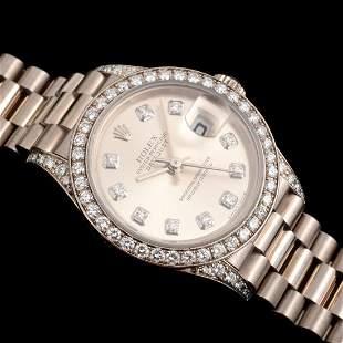 Rolex 18K White Gold Diamond PRESIDENTIAL Watch