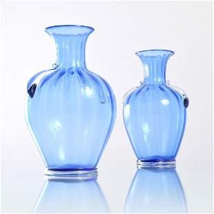 Pair of Cirillo Maschio COSTOLATO Vases Murano