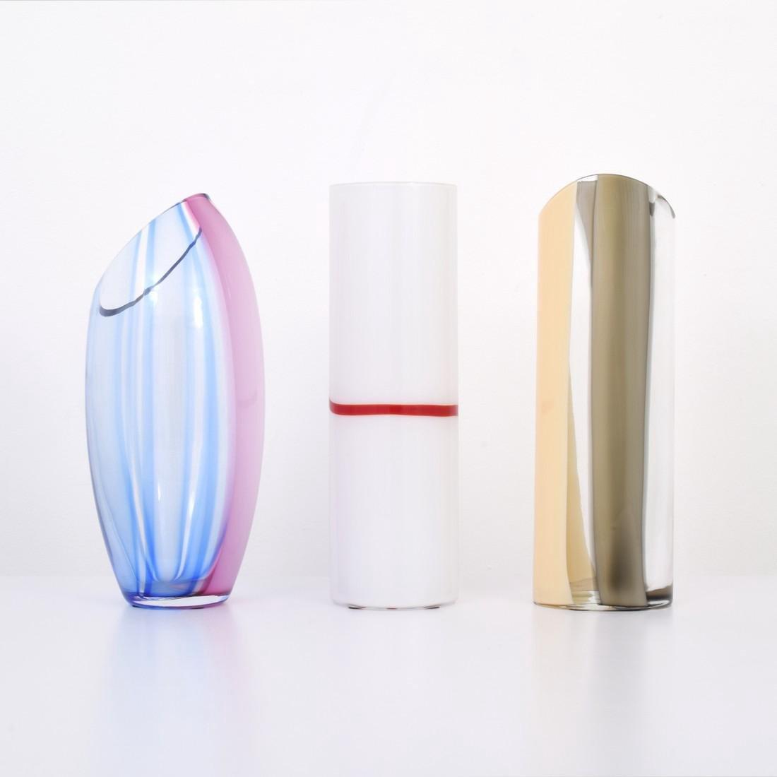 3 Large Livio Seguso Vases, Murano - 8