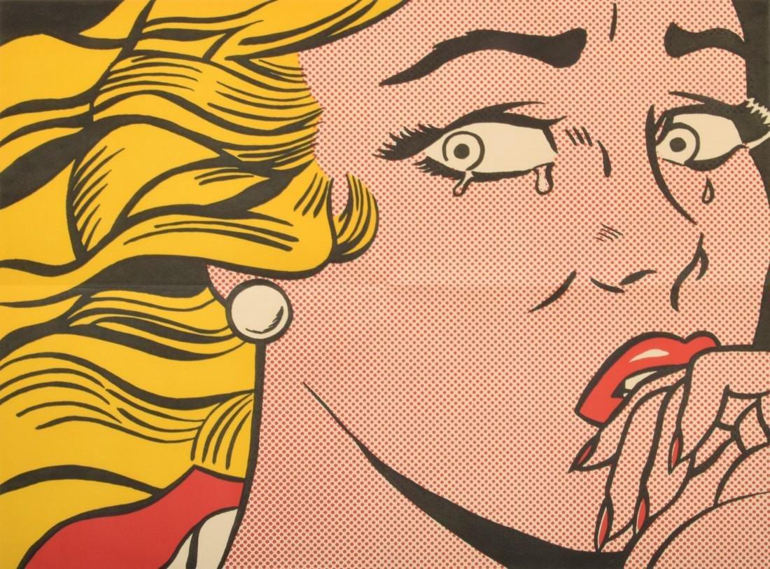 Roy Lichtenstein CRYING GIRL Mailer