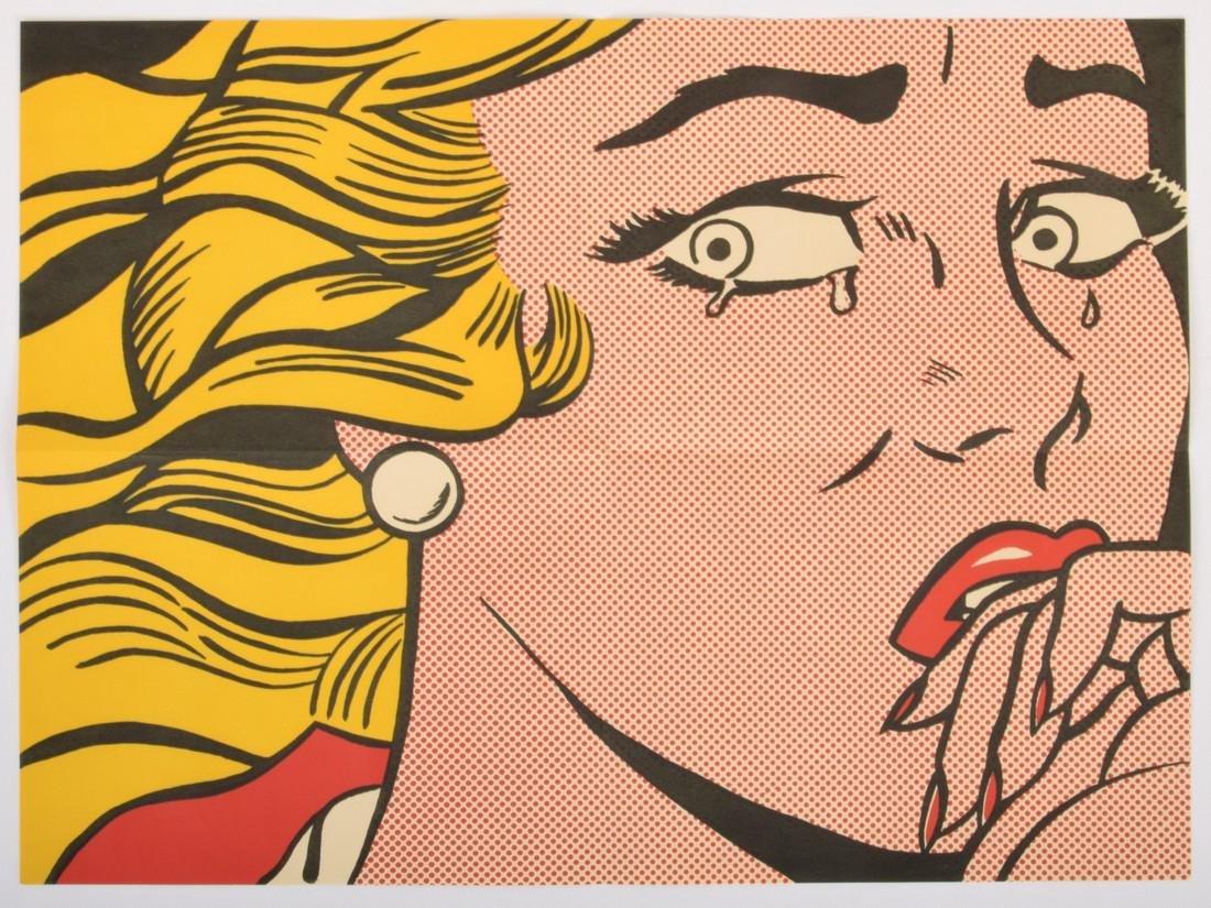Roy Lichtenstein CRYING GIRL Mailer - 2