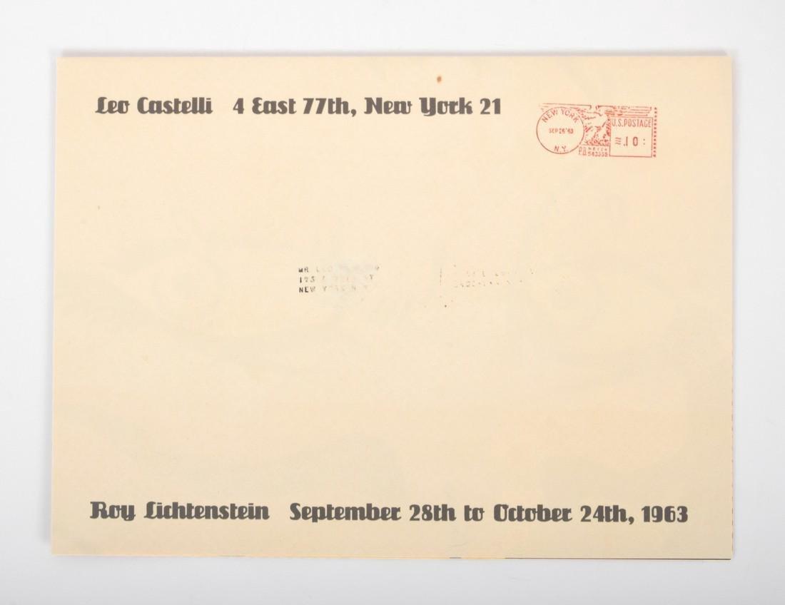 Roy Lichtenstein CRYING GIRL Mailer - 3