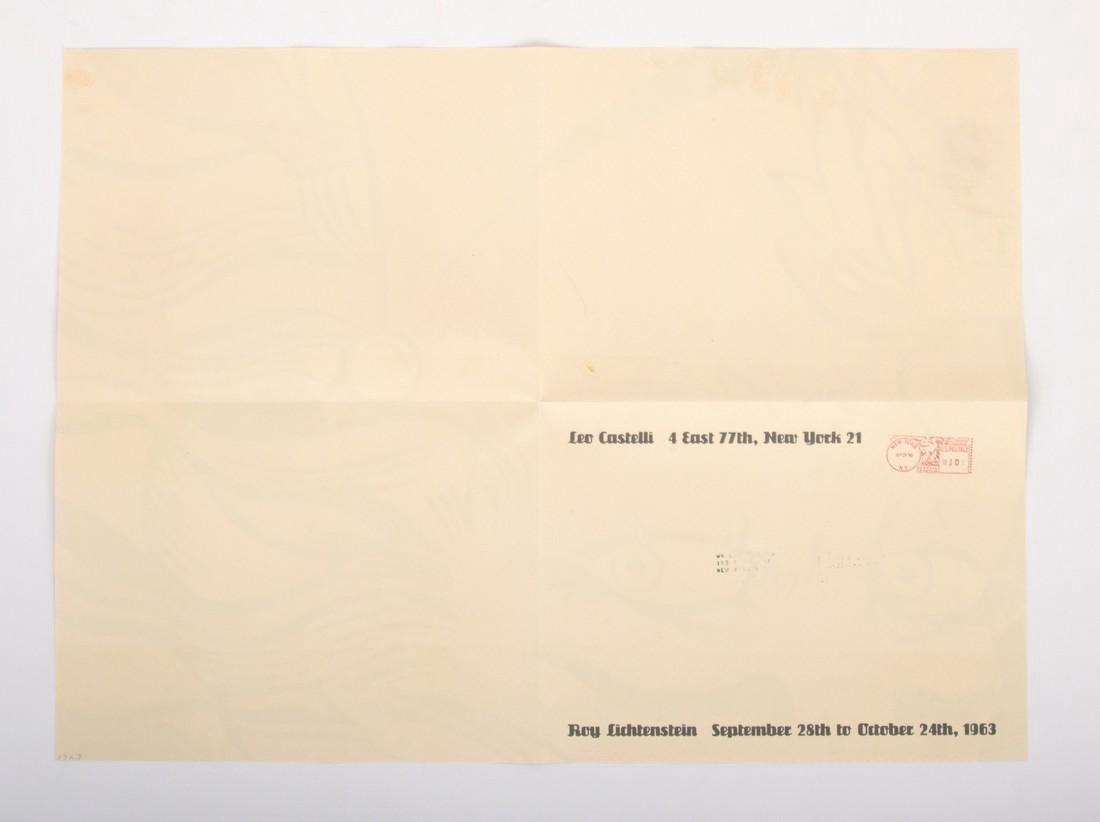 Roy Lichtenstein CRYING GIRL Mailer - 6