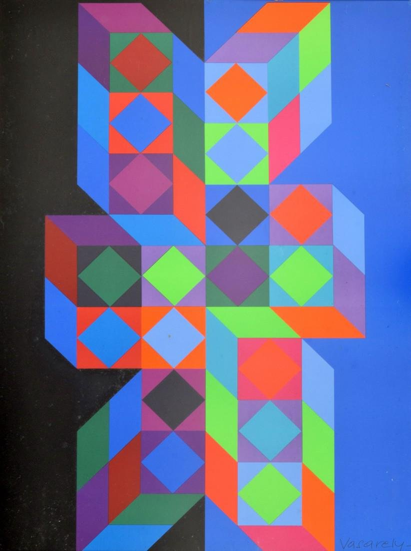 Victor Vasarely Lithograph, Signed