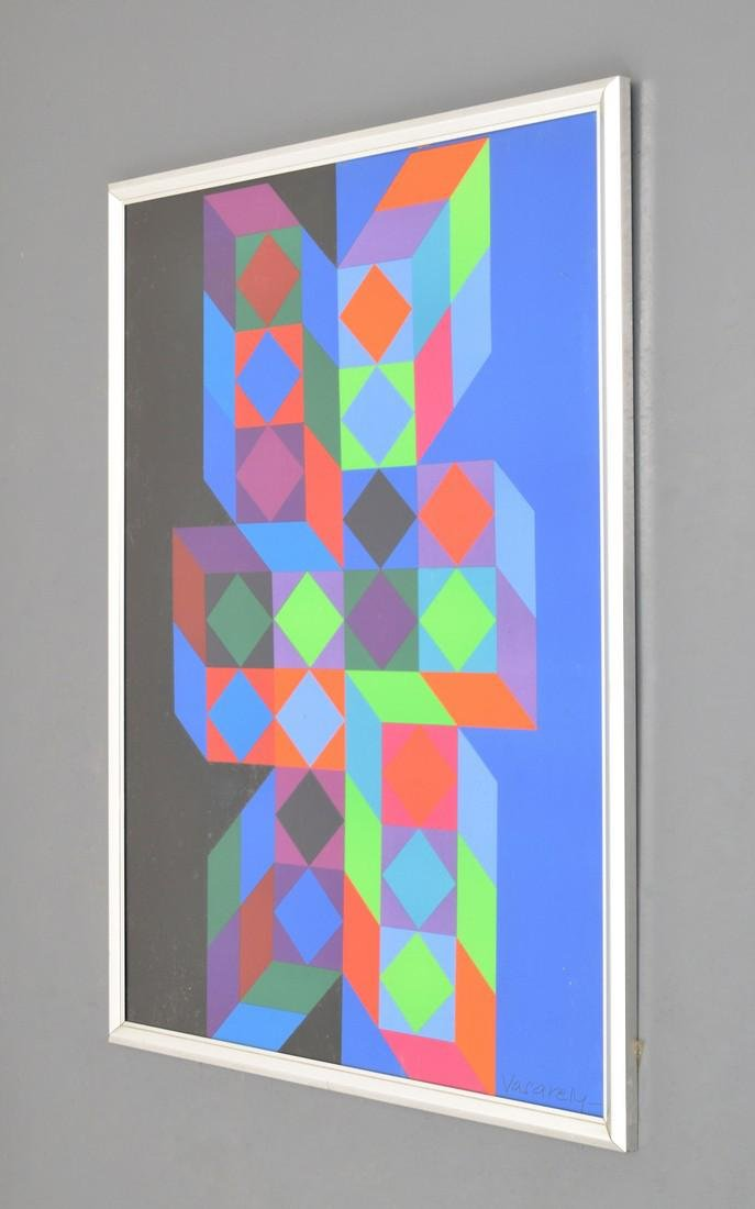 Victor Vasarely Lithograph, Signed - 2