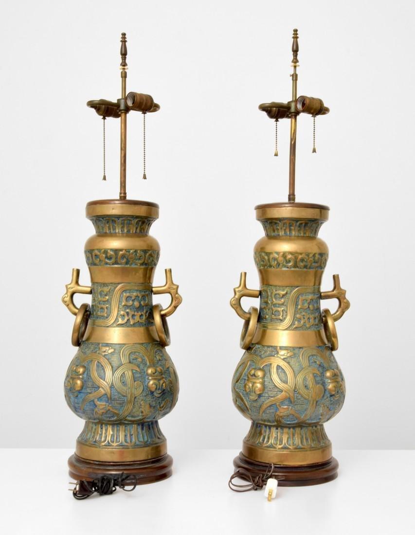 Pair of Monumental Pepe Mendoza Lamps - 5
