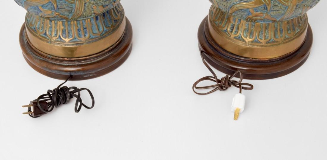 Pair of Monumental Pepe Mendoza Lamps - 6