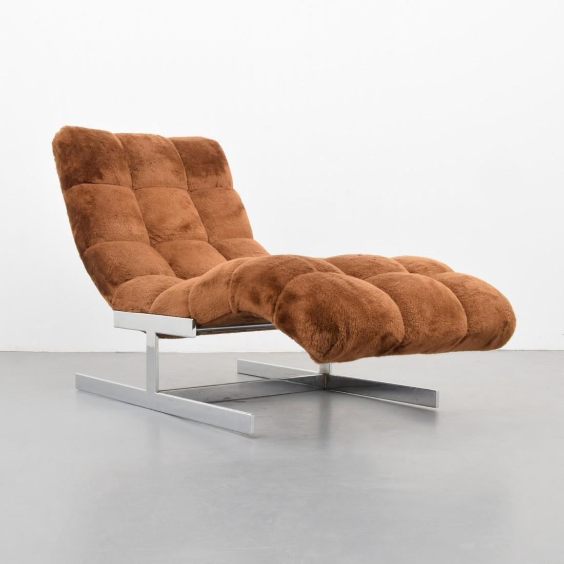 Chaise Lounge Chair, Manner of Milo Baughman