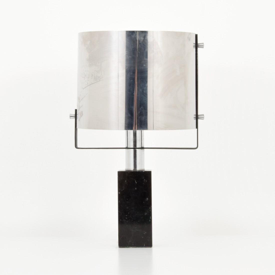 Chrome Table Lamp, Manner of Cini Boeri