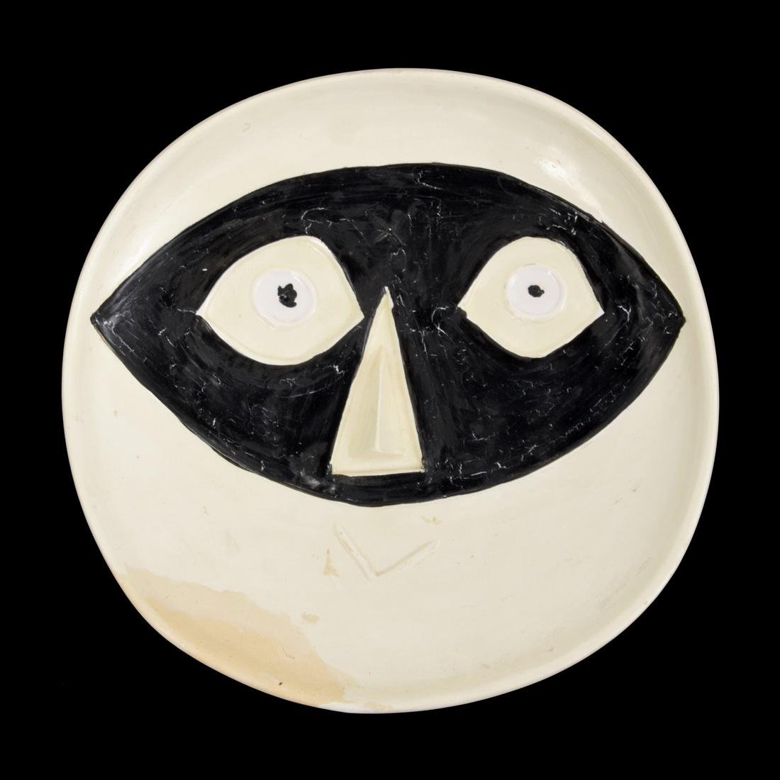 Pablo Picasso TETE AU MASQUE Plate (A.R. 362)