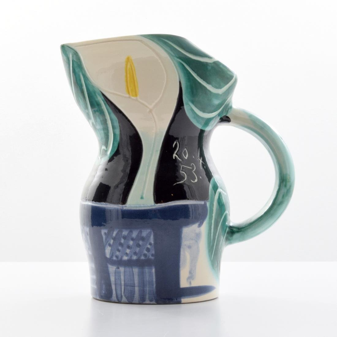 Large Pablo Picasso PICHET AUX ARUMS Pitcher (A.R. 189)