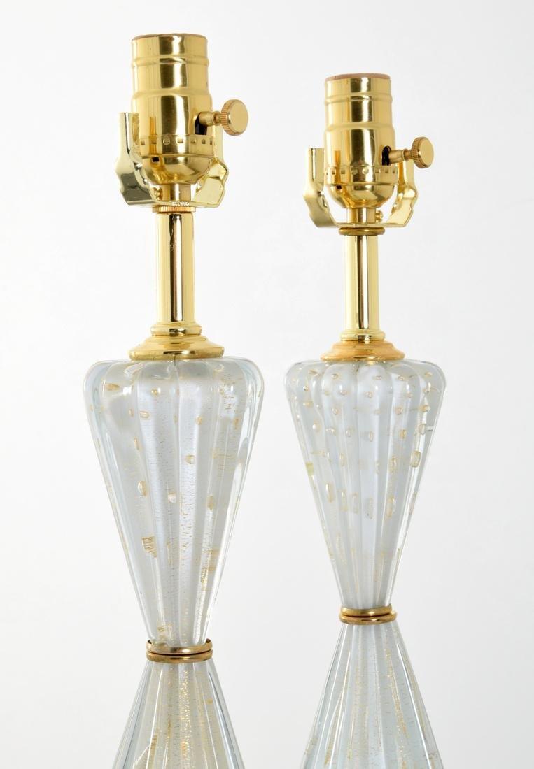 Pair of Barovier & Toso Lamps, Murano - 3