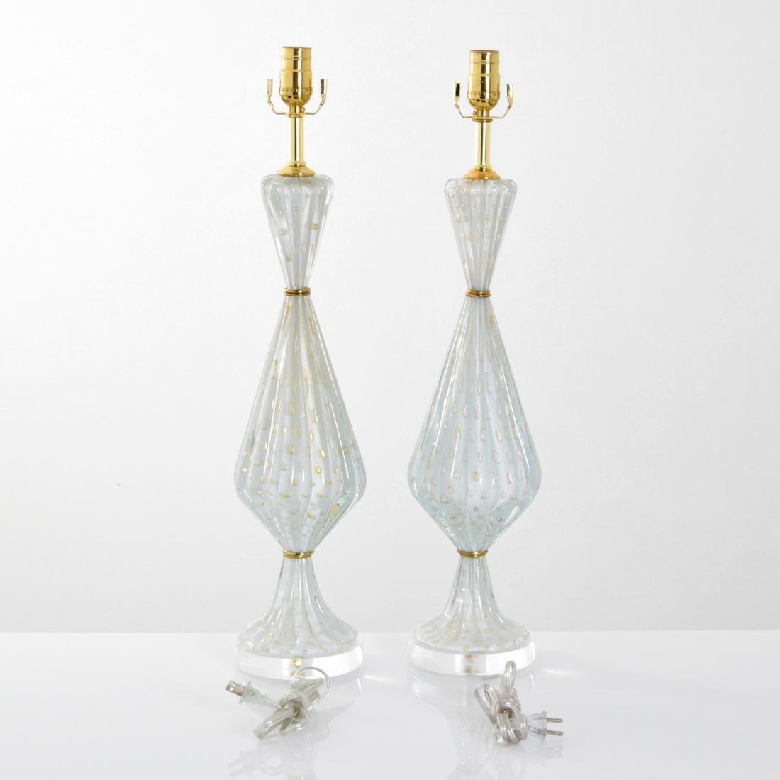 Pair of Barovier & Toso Lamps, Murano - 6
