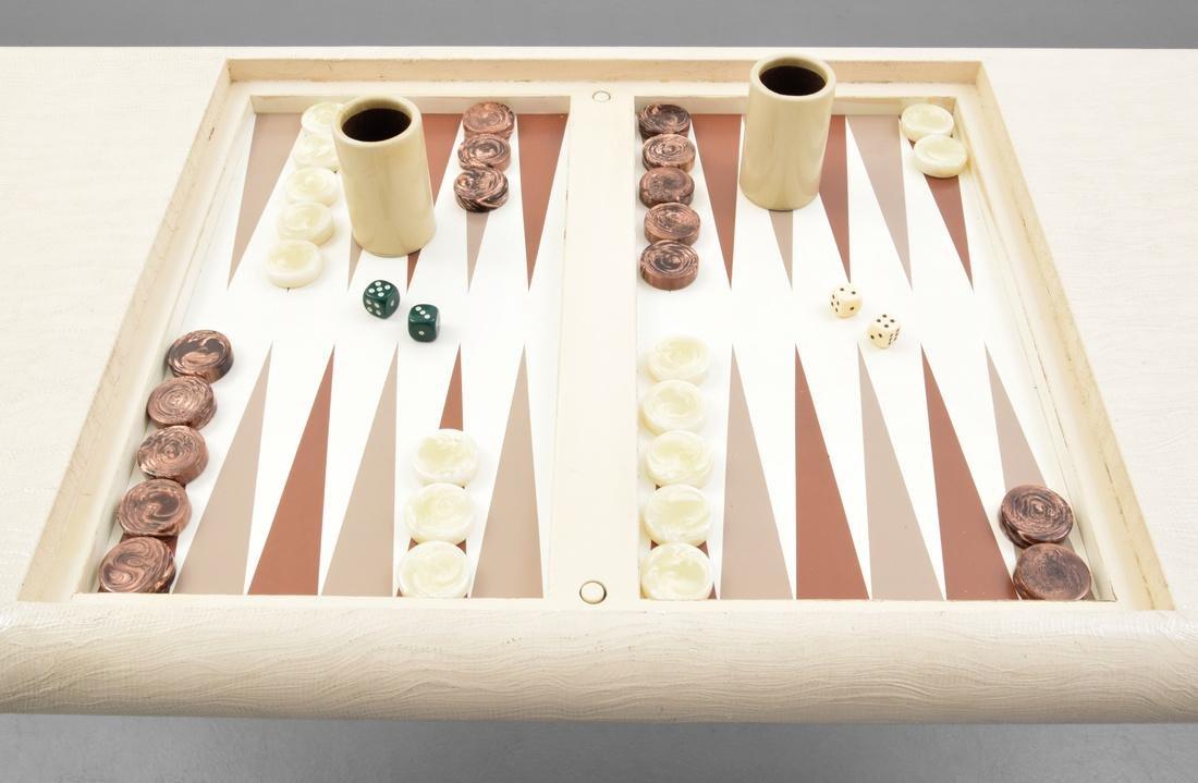 Karl Springer Game/Backgammon Table - 6