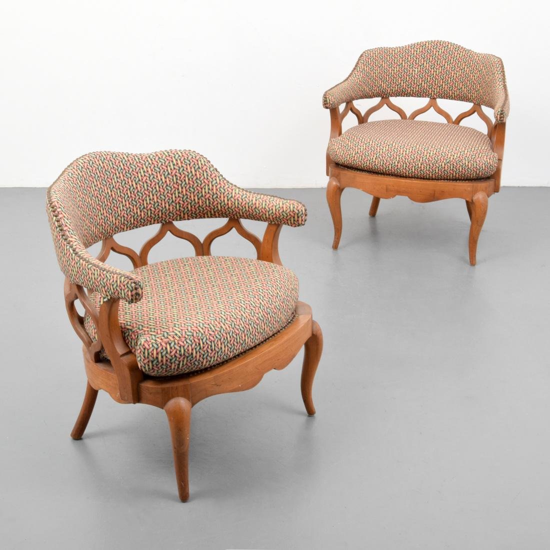 Pair of Lounge Chairs, Manner of William Haines