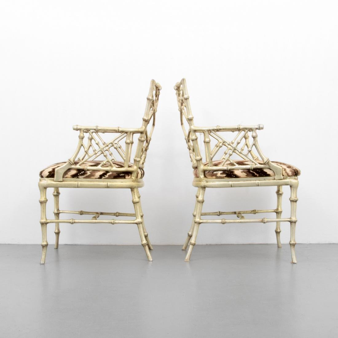 Pair of Phyllis Morris Originals Faux Bamboo Arm Chairs - 3