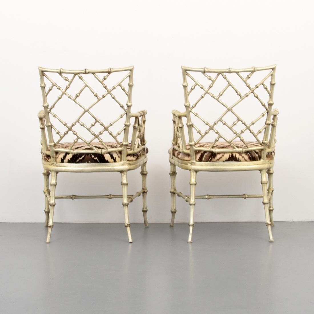Pair of Phyllis Morris Originals Faux Bamboo Arm Chairs - 4