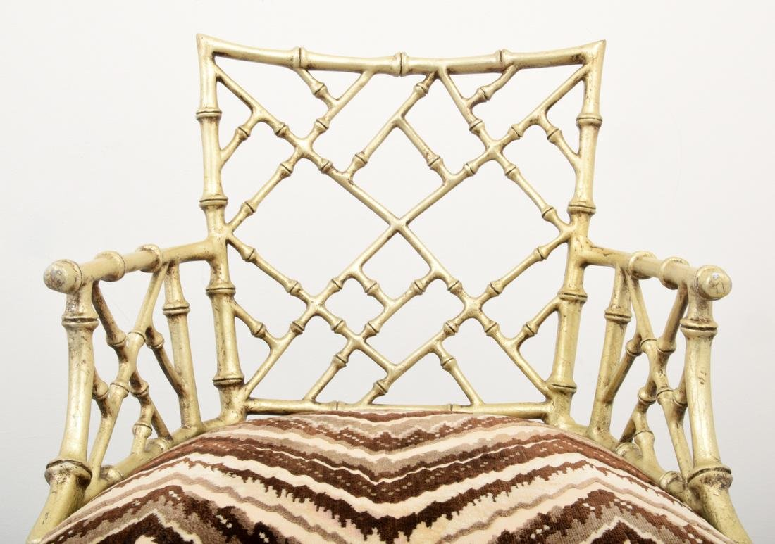 Pair of Phyllis Morris Originals Faux Bamboo Arm Chairs - 6