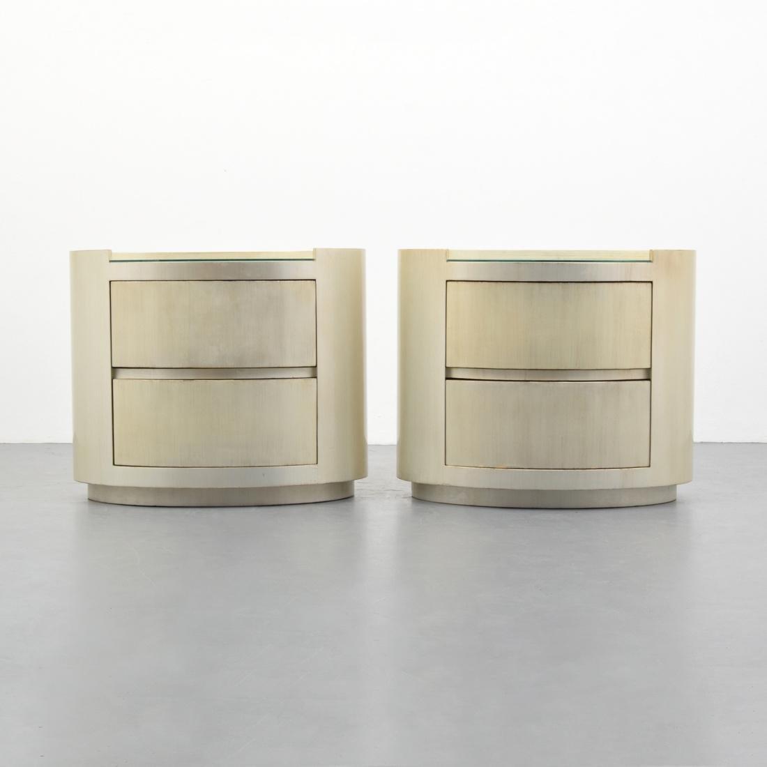 Pair of Karl Springer Nightstands/End Tables