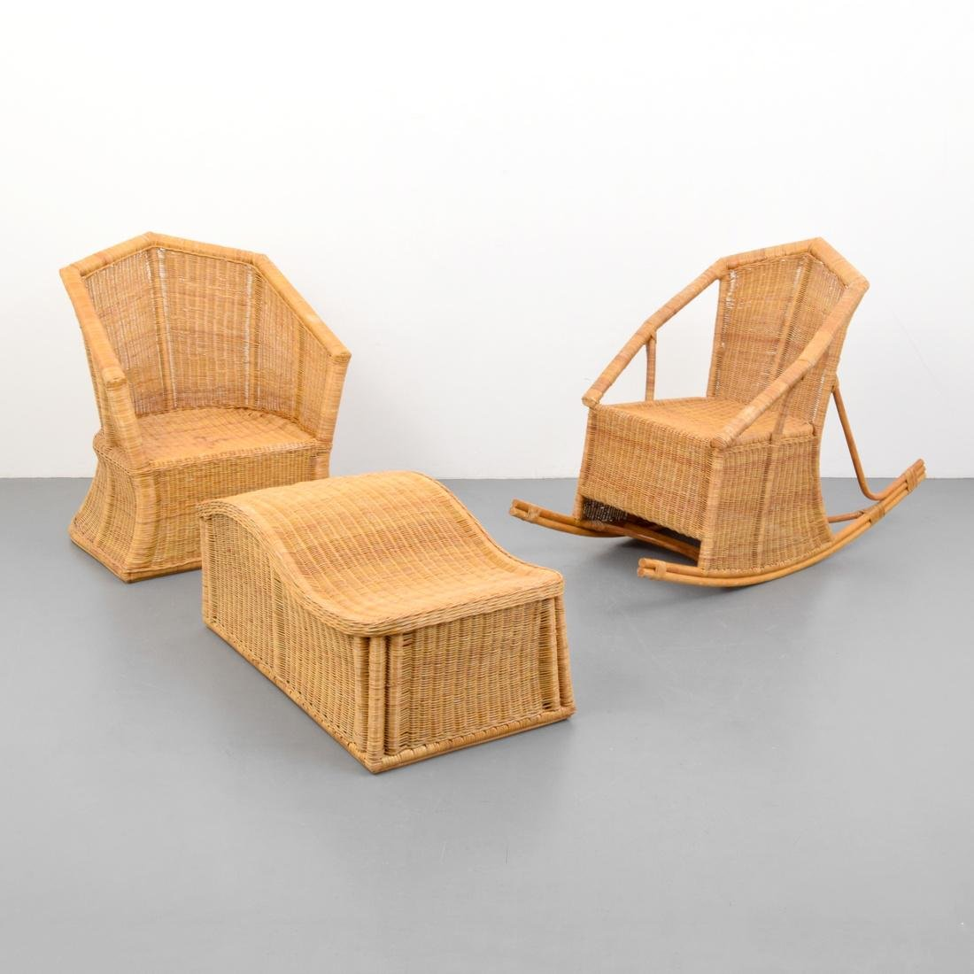 Pierre Chareau (after) Seating, 3 Piece Set