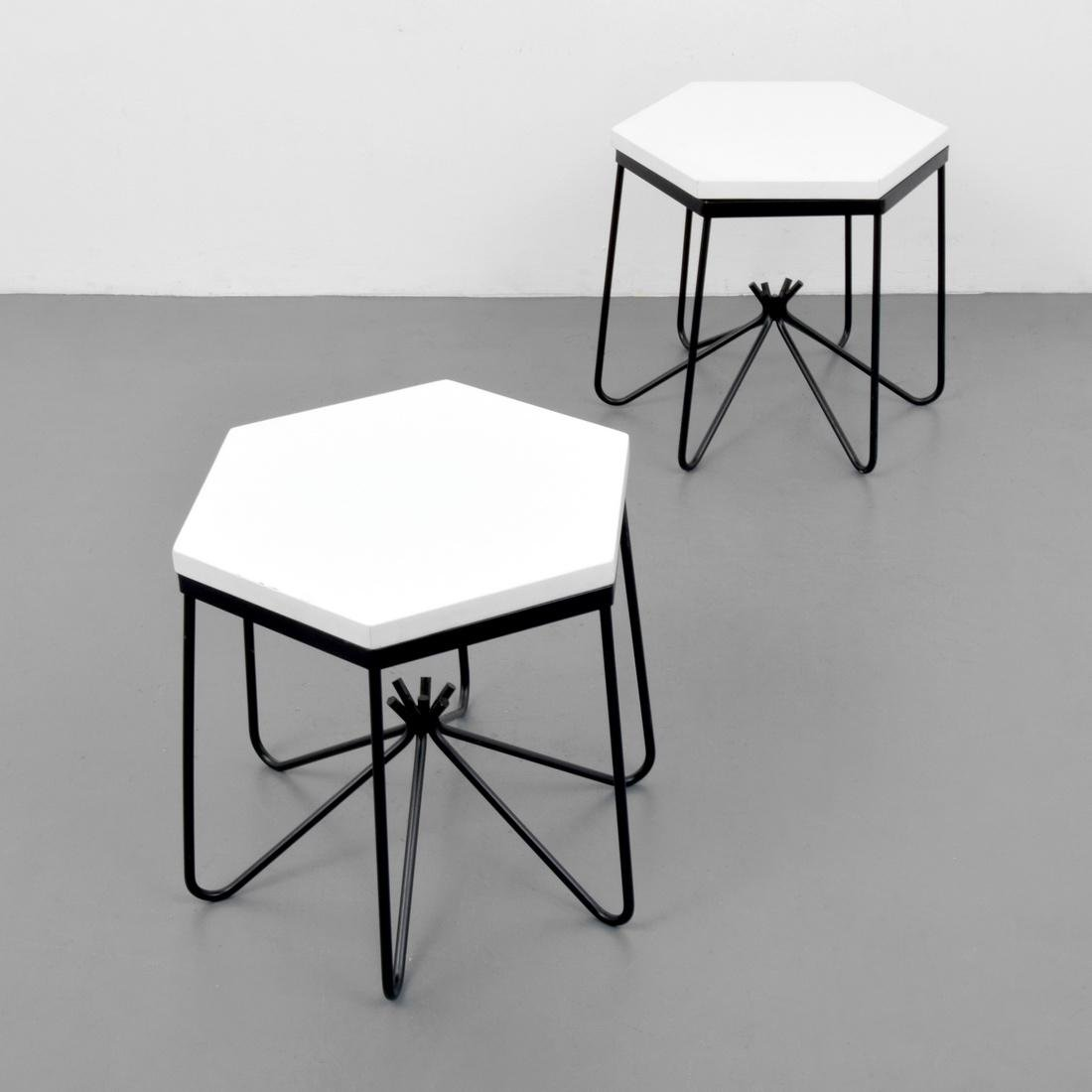Pair of HIRONDELLE Side Tables, Manner of Royere