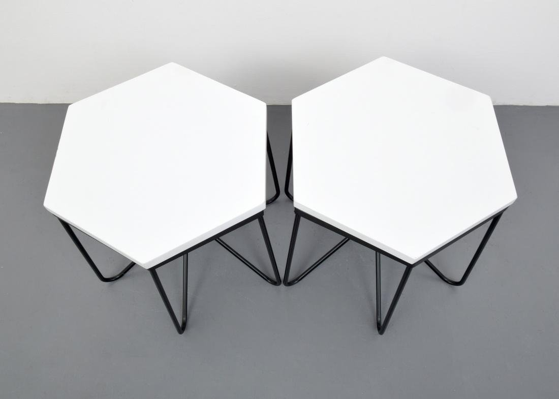 Pair of HIRONDELLE Side Tables, Manner of Royere - 8