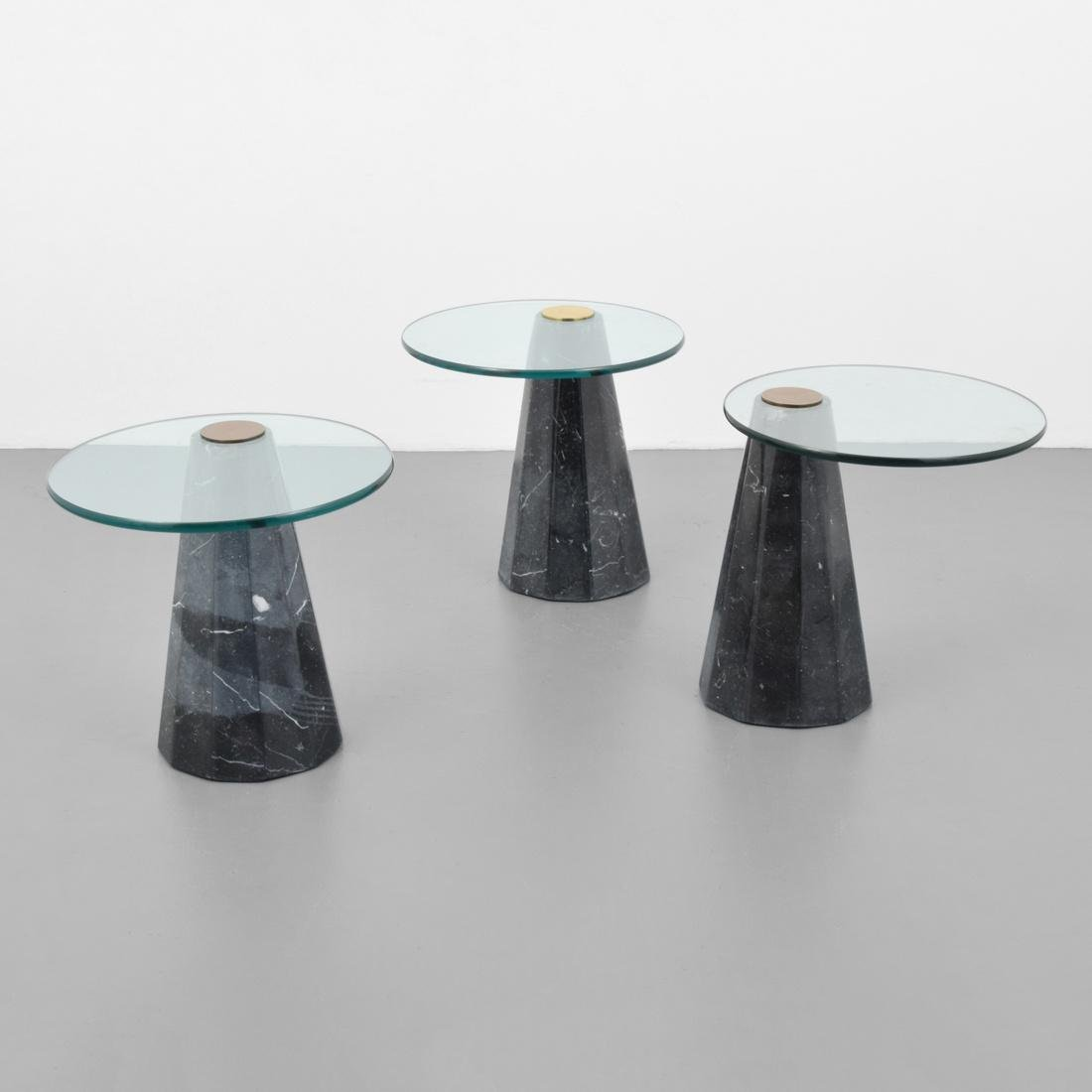 Set of 3 Side Tables, Manner of Angelo Mangiarotti