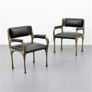 Pair of Paul Evans Arm Chairs