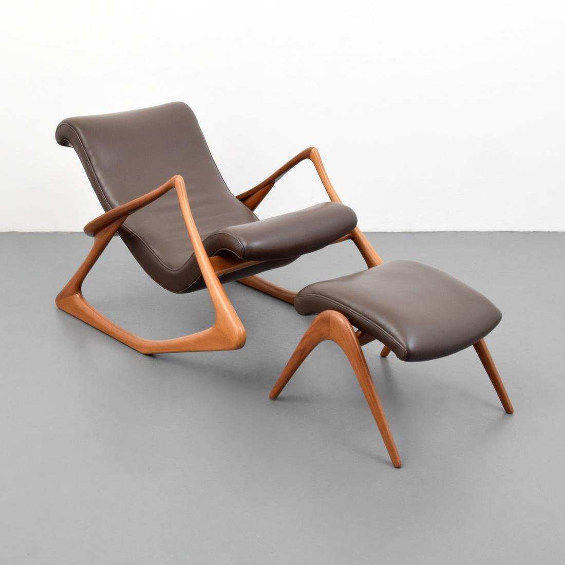 Vladimir Kagan TWO POSITION Chair & Ottoman