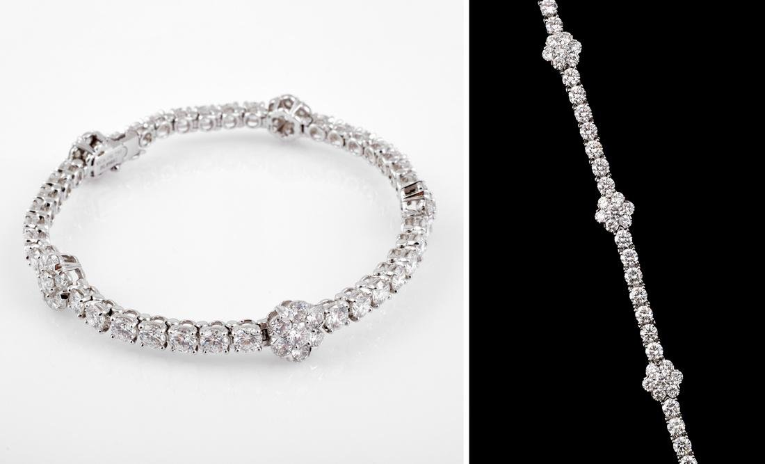 Van Cleef & Arpels 18K Gold & Diamond Estate Bracelet