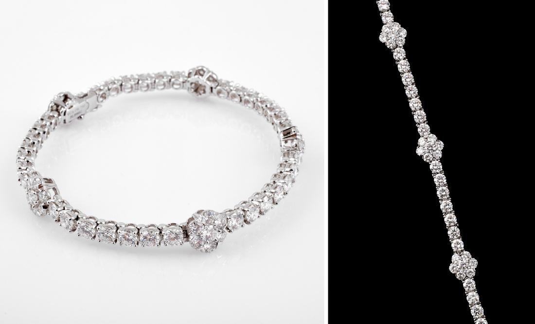 Van Cleef & Arpels 18K Gold & Diamond Estate Bracelet