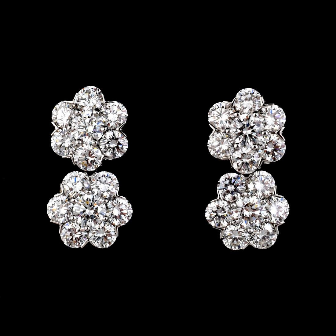 Van Cleef & Arpels 18K Gold & Diamond Estate Earrings