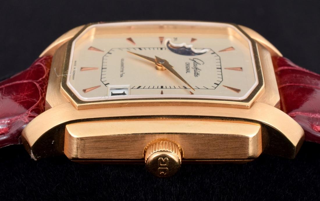 18K Gold Glashutte Men's Vintage Estate Wrist Watch - 10