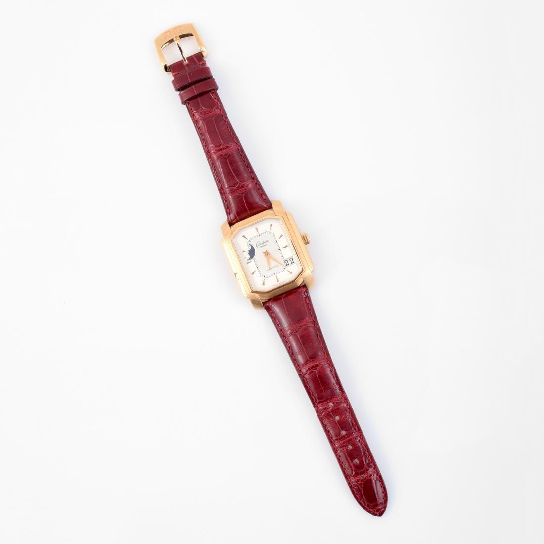 18K Gold Glashutte Men's Vintage Estate Wrist Watch - 6