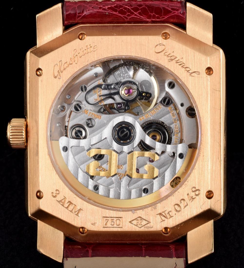 18K Gold Glashutte Men's Vintage Estate Wrist Watch - 8
