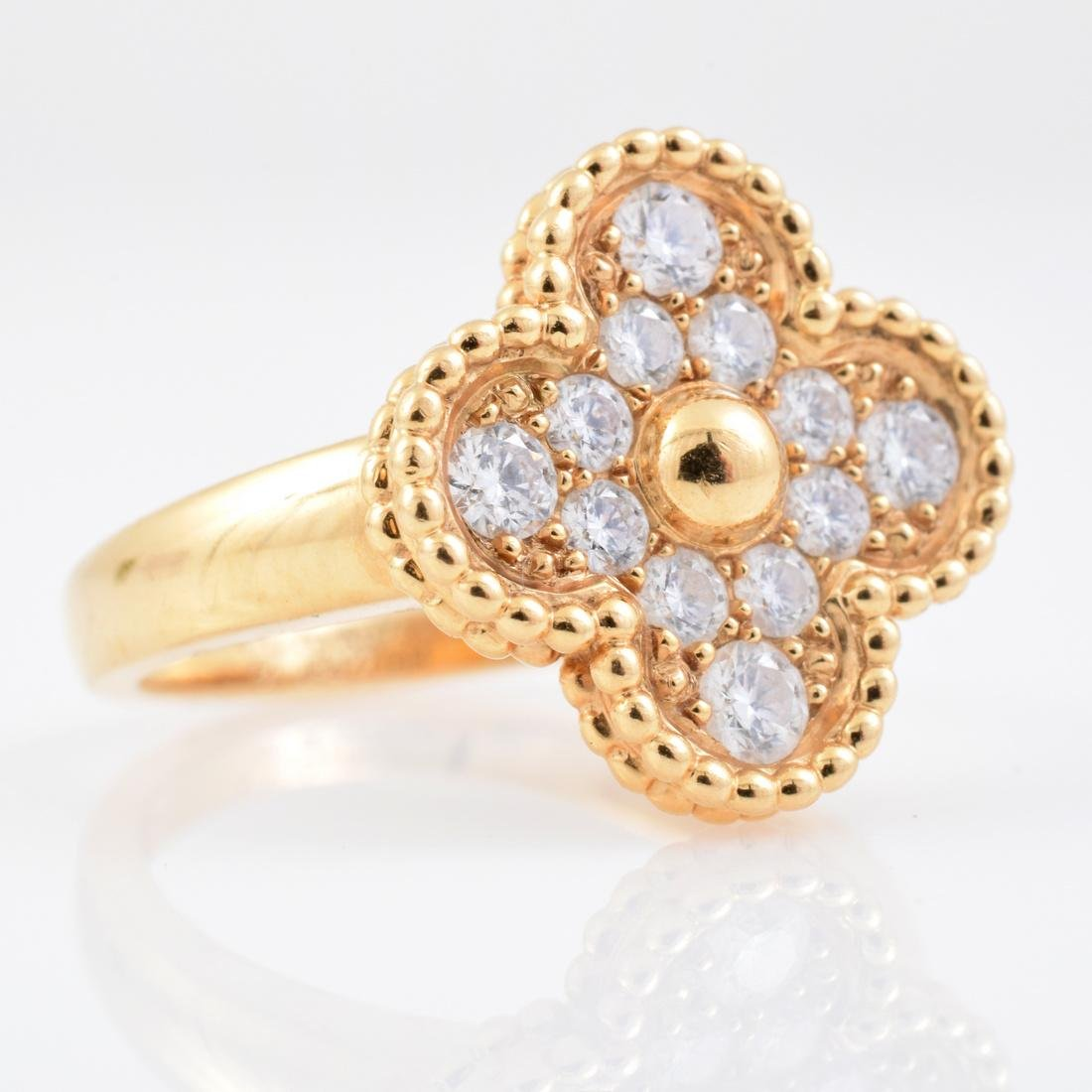 Van Cleef & Arpels 18K Gold & Diamond Estate Ring