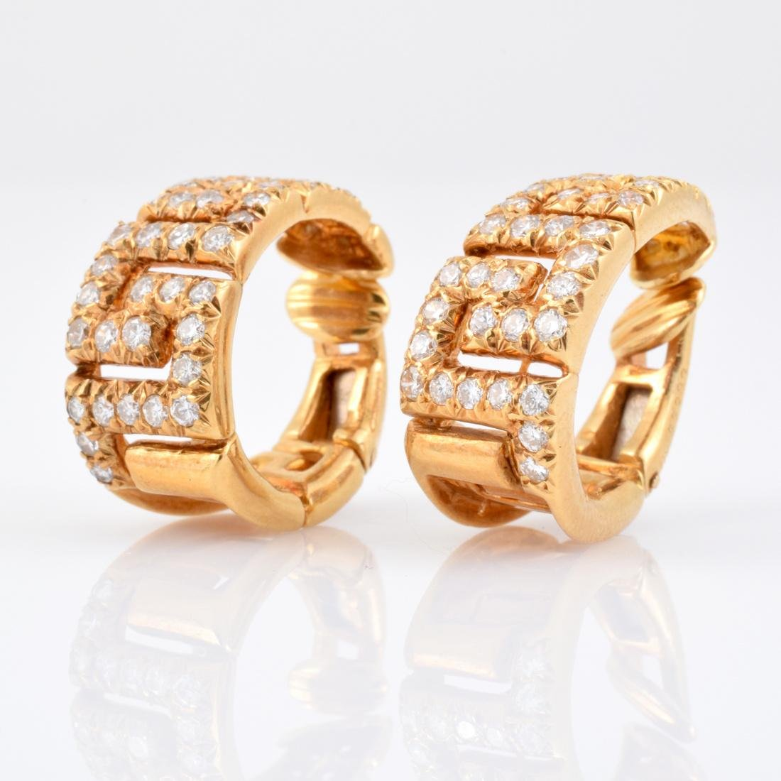 Van Cleef & Arpels 18K Gold & Diamond Earrings
