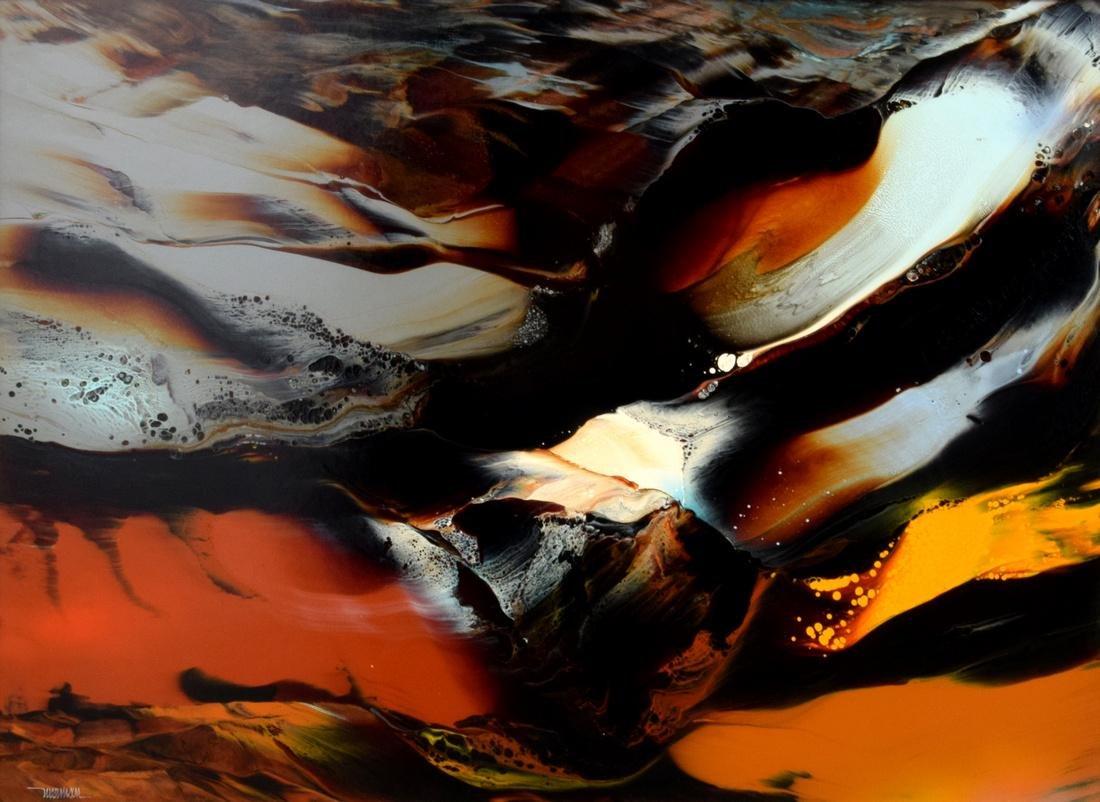 Large Leonardo Nierman Painting, Original Work