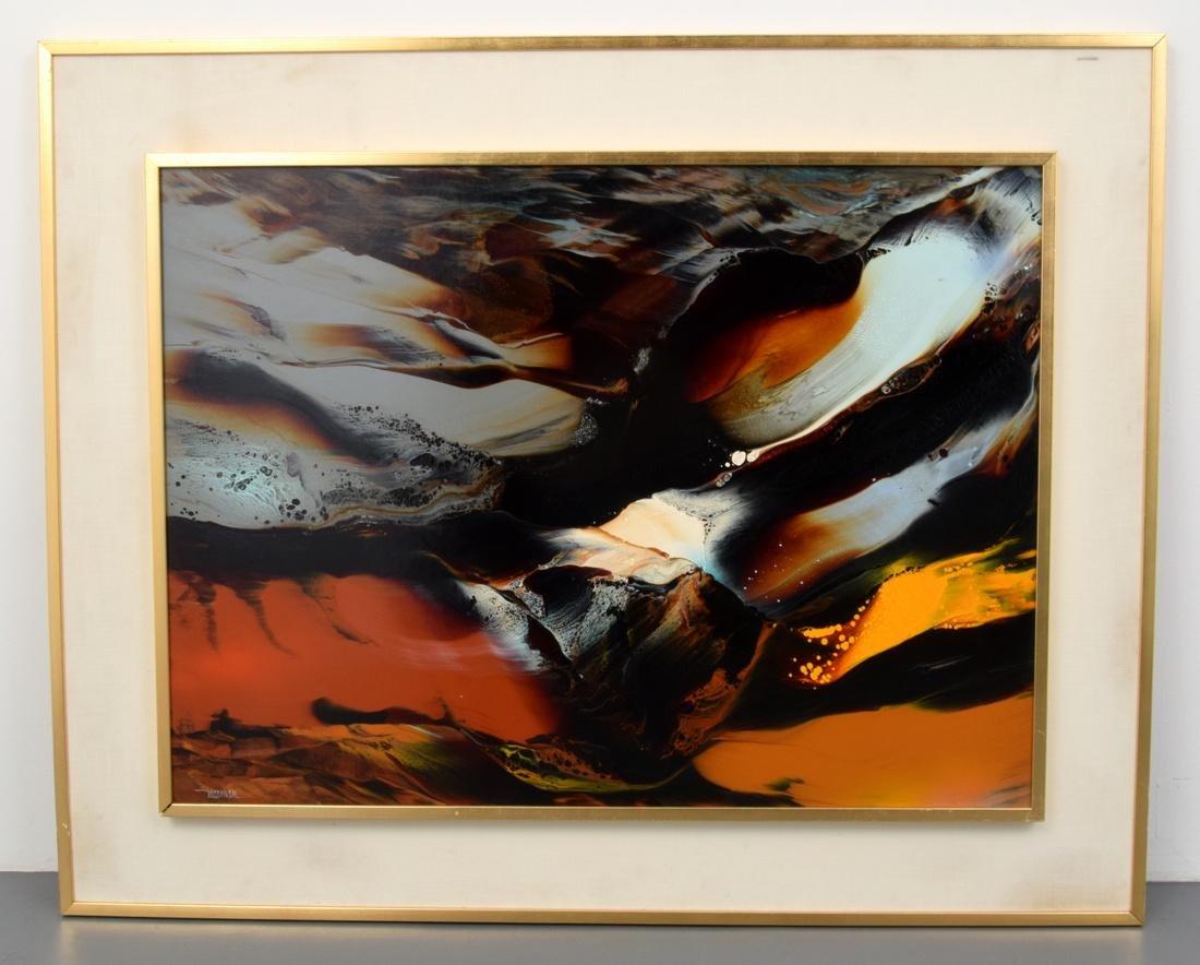 Large Leonardo Nierman Painting, Original Work - 2
