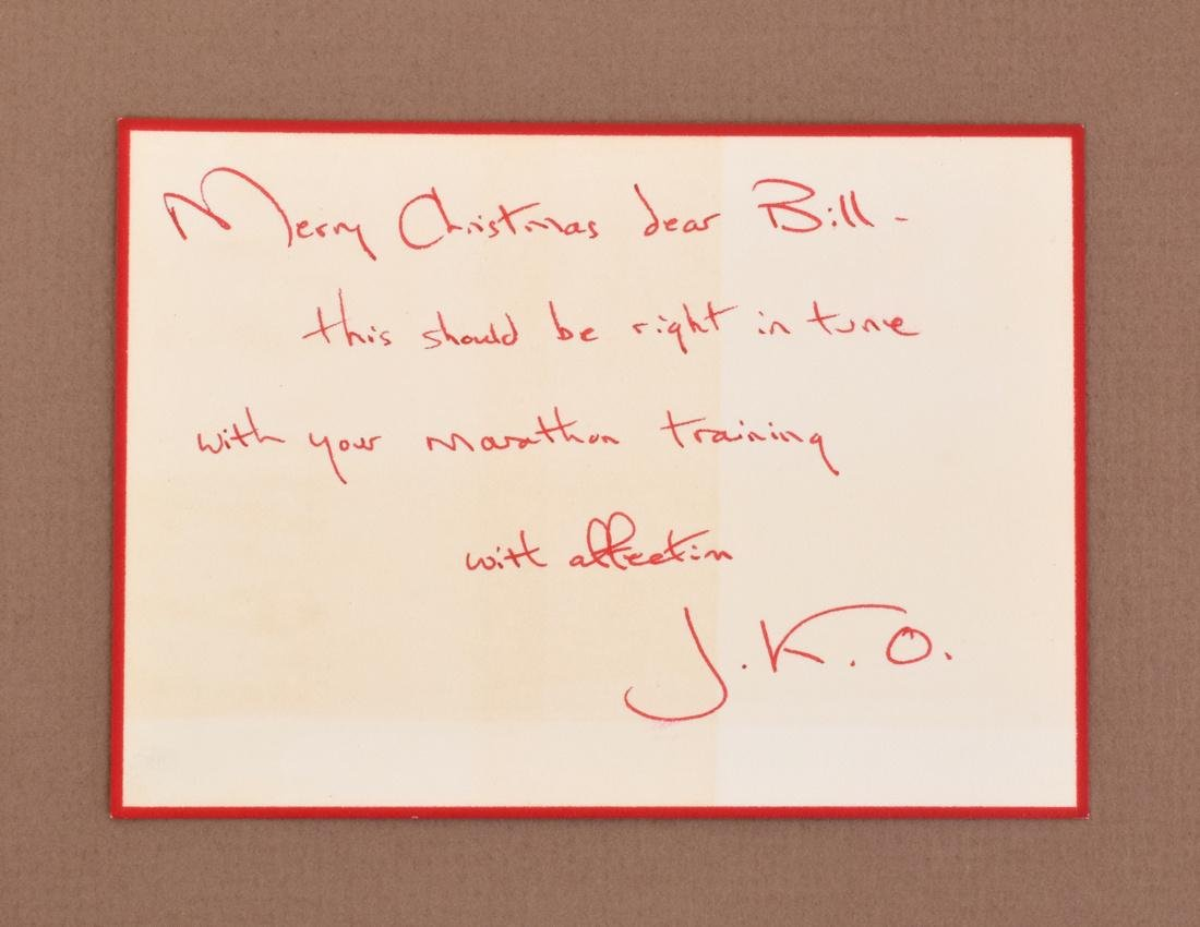 Jacqueline Kennedy Onassis Signed Note Card & Book