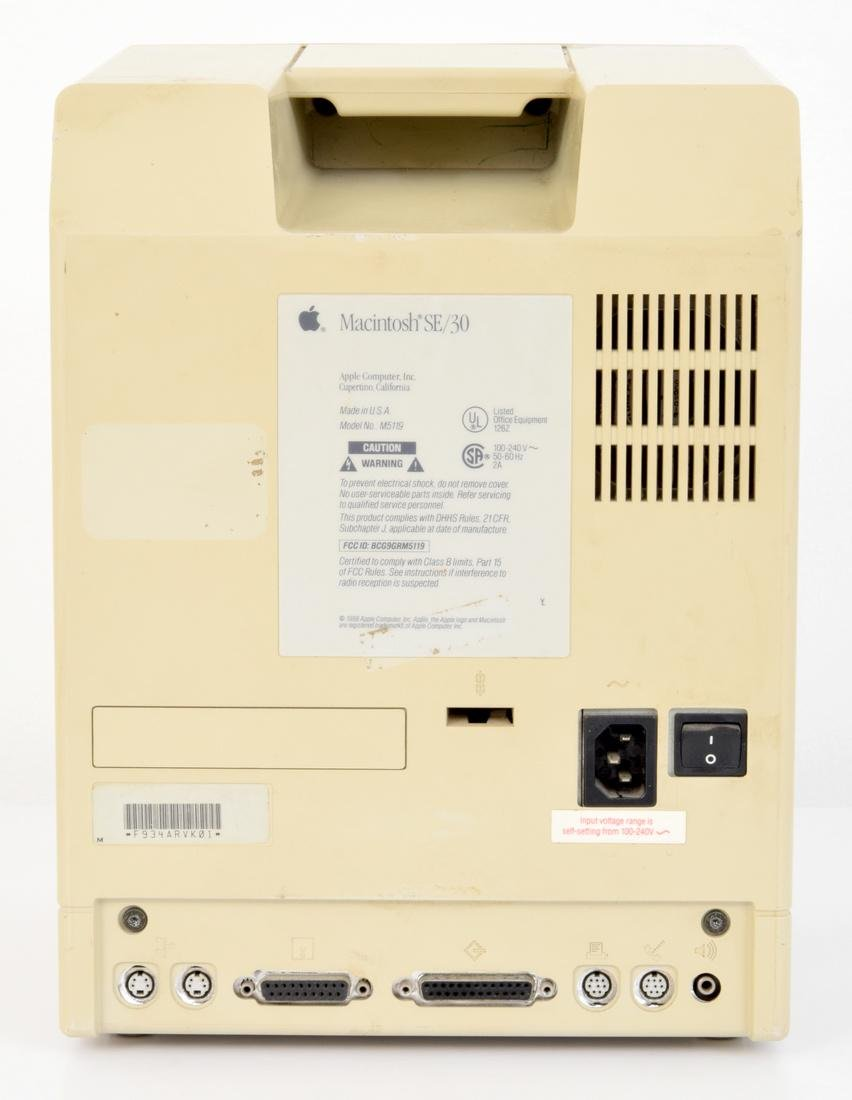 Apple Macintosh SE/30 Computer & Keyboard - 4