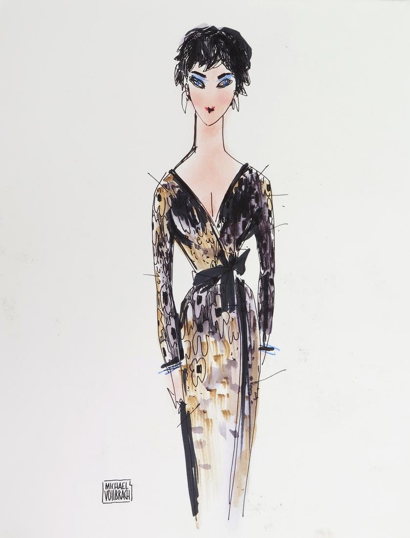 Michaele Vollbracht Drawing- Liz Taylor, Original Work