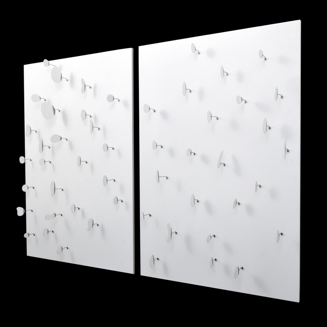 2 Large Brad Howe Sculptural Panels, Diplomat Hotel