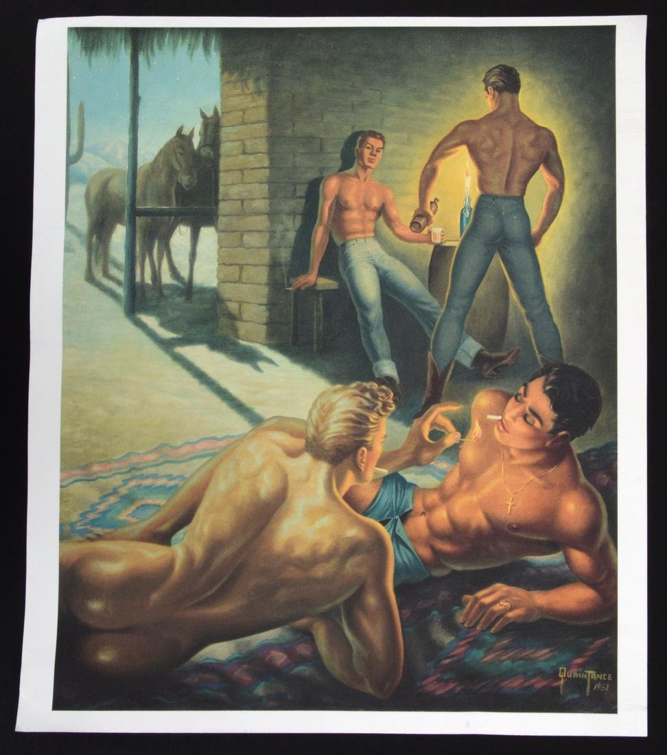 George Quaintance Erotic Prints, Set of 7 - 4