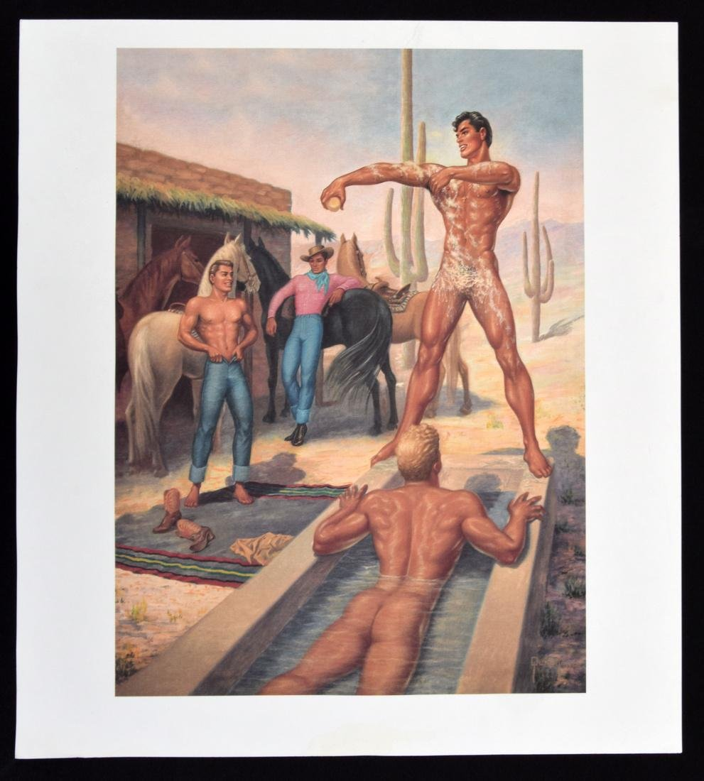 George Quaintance Erotic Prints, Set of 7 - 7