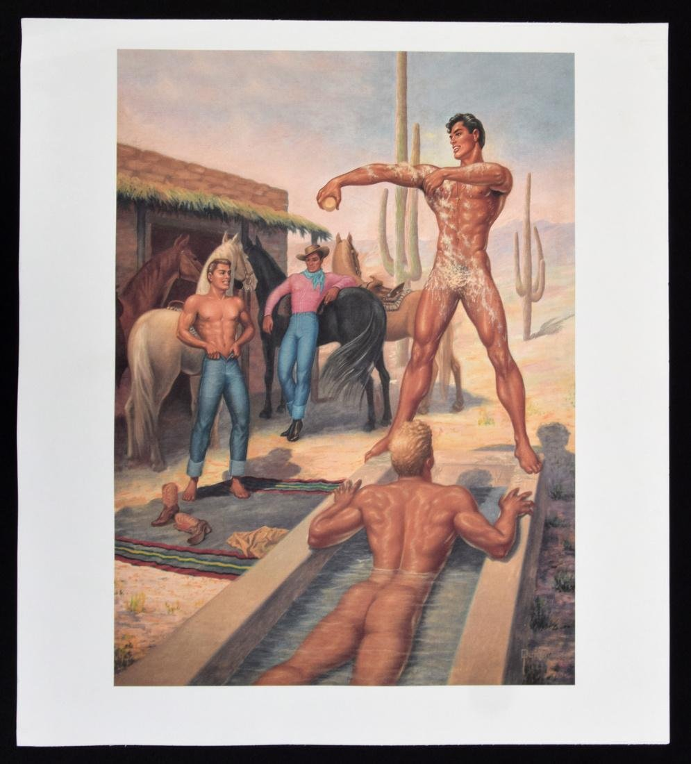 George Quaintance Erotic Prints, Set of 7 - 8