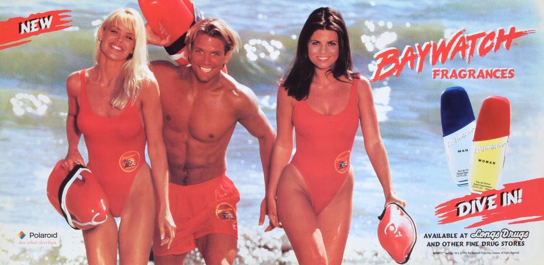 Large BAYWATCH FRAGRANCES Poster