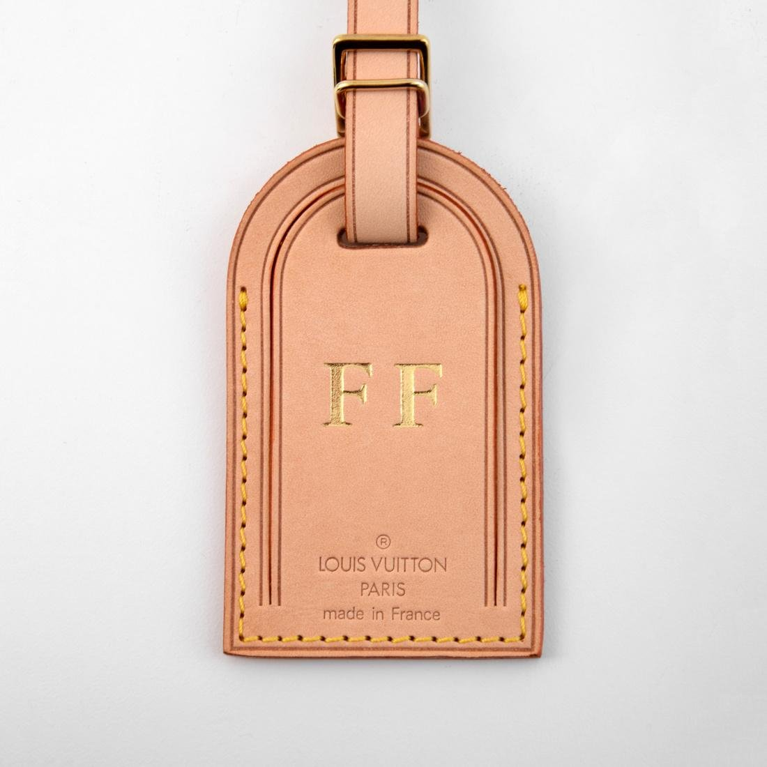 Farrah Fawcett Monogrammed Louis Vuitton Luggage Tag