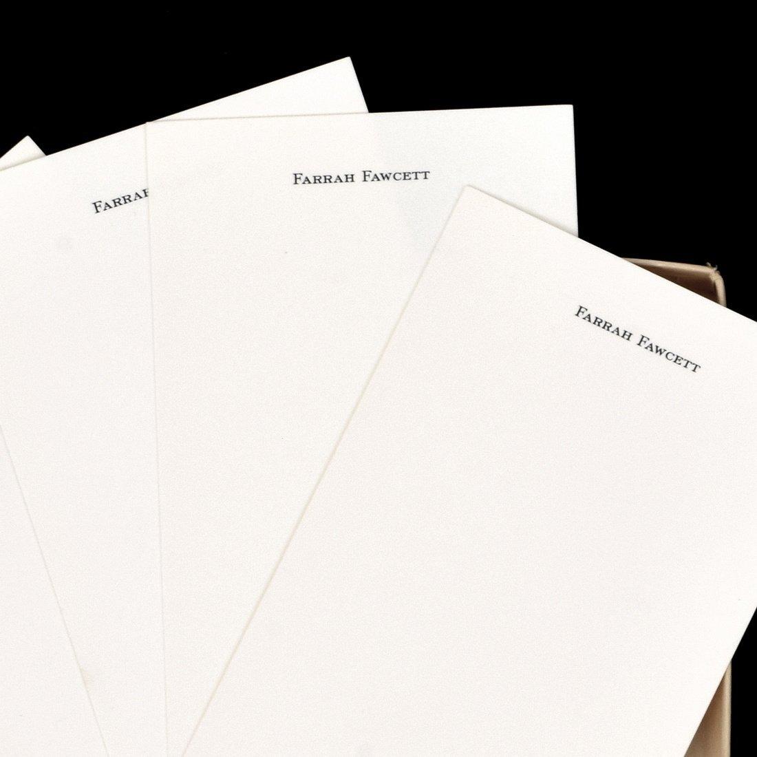Farrah Fawcett Personal Monogrammed Stationery