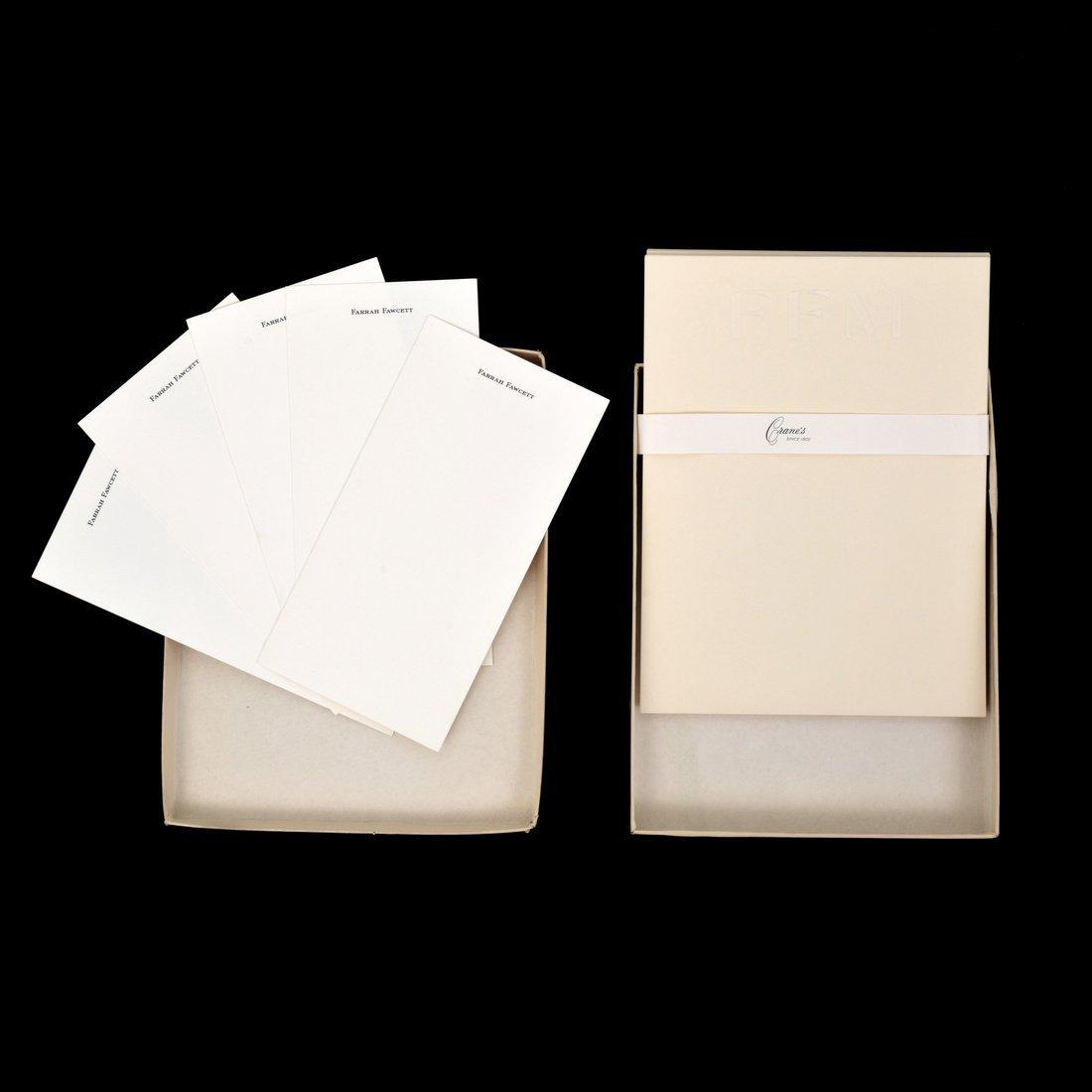 Farrah Fawcett Personal Monogrammed Stationery - 3